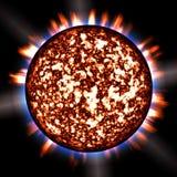 1 покрашенный sunburst Стоковое Изображение