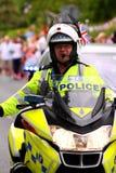 1 полицейский мотовелосипеда Стоковая Фотография