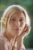 1 портрет цветка bali близкий вверх Стоковое Изображение RF