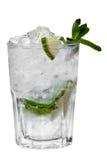 1 прозрачное коктеила изолированное льдом Стоковая Фотография RF