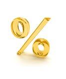 1 процент желтого цвета знака Стоковые Изображения RF