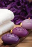 1 пурпуровая спа релаксации Стоковые Изображения RF