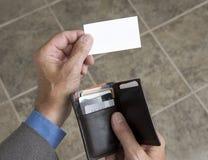 1 пустой представлять визитной карточки Стоковые Изображения
