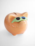1 путь банка включенный piggy Стоковое Изображение