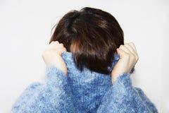 1 пушистый свитер девушки Стоковые Изображения RF