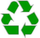 1 рециркулирует символ стоковое фото rf
