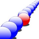 1 рядок чудака шариков глянцеватый Стоковые Фото