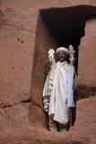 1 священник lalibela Стоковое Изображение