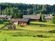 1 северное село Стоковые Изображения RF
