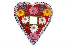 1 сердце имбиря хлеба Стоковое Изображение