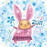 1 серия кролика карточки Стоковая Фотография RF
