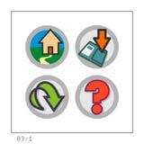 1 сеть версии 03 икон установленная Стоковые Изображения