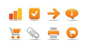 1 сеть серии тыквы иконы установленная стоковое фото