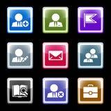 1 сеть экрана икон цвета установленная Стоковое Изображение