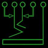 1 символ подачи диаграммы Стоковая Фотография