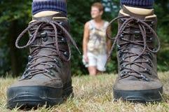 1 следует за hiker Стоковая Фотография RF