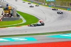 1 след гонки формулы автомобилей Стоковые Изображения RF