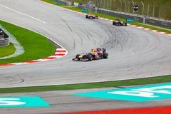 1 след гонки формулы автомобилей Стоковые Фото