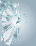 1 сломленная стеклянная белизна Стоковое Изображение RF