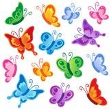 1 собрание бабочек различное иллюстрация вектора