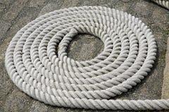 1 спиральная белизна веревочки детали Стоковые Фото