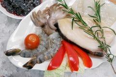 1 сырцовый продукт моря Стоковые Изображения