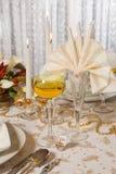 1 таблица золота рождества Стоковое Изображение RF