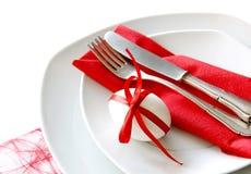 1 таблица красного цвета украшения Стоковые Изображения RF