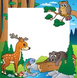 1 тема рамки пущи Стоковые Изображения