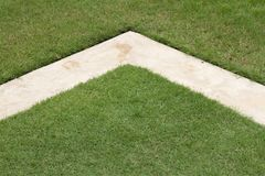 1 трава цемента Стоковые Изображения RF