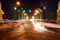 1 тропка светлого rama моста стальная Стоковое Изображение RF