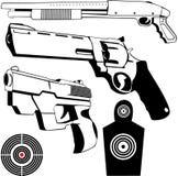 1 установленное оружие Стоковое Фото