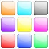1 установленный глянцеватый квадрат Стоковые Изображения