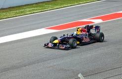 1 участвовать в гонке формулы цепи автомобилей Стоковое Изображение RF