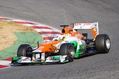 1 участвовать в гонке формулы Стоковое фото RF