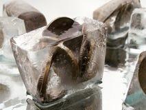 1 учет преградил замороженное Стоковая Фотография
