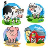 1 ферма животных различная Стоковые Фотографии RF