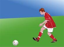 1 футболист Стоковые Изображения