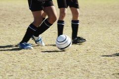 1 футбол действия Стоковая Фотография