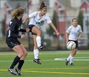 1 футбол v девушок Стоковое Фото