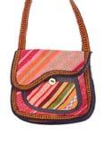 1 цветастой белизна хлопка изолированная сумкой Стоковое фото RF