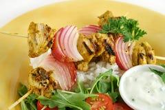 1 цыпленок skewers tandoori Стоковые Фото