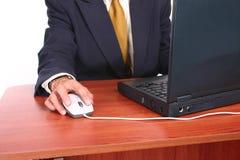 1 человек стола дела Стоковая Фотография RF