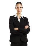 1 черная женщина костюма дела Стоковое Изображение RF