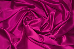 1 шелк сатинировки ткани розовый Стоковая Фотография