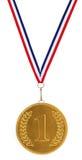 1-ые Установьте золотую медаль Стоковая Фотография