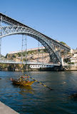1-ые dom lu s моста Стоковые Фото
