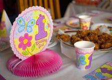 1-ый день рождения Стоковое Изображение RF