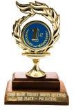 1-ый призовой трофей Стоковые Изображения
