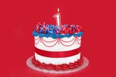 1-ый торт Стоковая Фотография